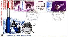 COMORES. PA 16A De 1966 Sur Enveloppe 1er Jour. Satellite. - Africa