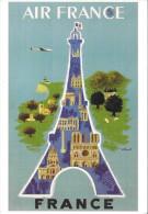 Affiche Air France Par  Villemot (Scan Recto Verso) - Aerei