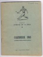 F.R.N.P. Entente de la Dyle - Calendrier 1963 - Balle pelote - Jeu de balle