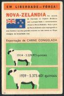 Nova Zelandia Em Liberdada Forca Carne Congelada Sheep Argentina Brutalidade Nazi New Zealand Postcard - Satirical