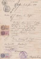 Timbres Fiscaux + Taxes Communales Sur Papier Timbré DA 4 F  Complément De 1937 Filigrane 1936 ABSIE Deux Sèvres - Revenue Stamps