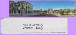 Marque-page °° Ville De Rome Italie - Le Colisée Et L'Arc De Constantino  5x22 - Marque-Pages
