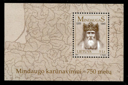 LITUANIE LIETUVA 2003, 750 Ans Couronnement Roi Mindaugu, 1 Bloc, Neuf / Mint. R1029 - Litauen