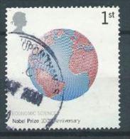 GB 2001 Nobel Prizes: Globe (Economic Sciences)  1 St  SG 2233 SC 1994 MI 1955 YV 2275 - Used Stamps