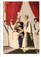 LE SCHAH D'IRAN MOHAMMAD REZA PAHLAVI ET SA FAMILLE - CARTE ECRITE PAR L'ARCHEVEQUE CHALDEEN DE THEHERAN JOSEPH CHEIKHO - Familles Royales