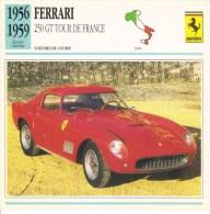 Ferrari 250GT Tour De France Coupé  -  1956  -  Fiche Technique Automobile (Italie) - Voitures