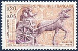 France Animaux Chevaux N° 1378 ** Journée Du Timbre 63 - Attelage - Char De Poste Gallo Romain - Cheval - Cavalli