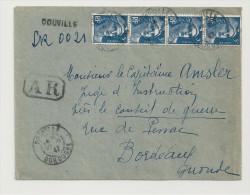 Recommandé, 29.9.1947, Gandon 5f Bleu,  , Tarif à 20f  - Enveloppe Entière  (R019) - Marcophilie (Lettres)