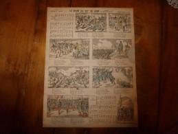 Vers 1900      Pellerin & Cie  LE CHANT DU 106me DE LIGNE (Paroles De L'abbé Bourguin)    Imagerie D'Epinal  N° 242 - Vieux Papiers