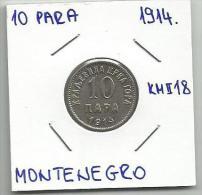 Gh4  Montenegro 10 Para 1914. KM#18 - Joegoslavië