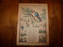 Vers 1900    Imagerie Nouvelle   L'ENFANT ET LE MAITRE D'ECOLE  (Fable De La Fontaine)             Planche N° 1228 - Vieux Papiers