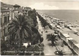 Y1869 Grottammare (Ascoli Piceno) - Viale Cristoforo Colombo E Spiaggia - Beach Plage Strand Playa / Viaggiata 1964 - Italia