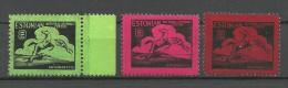 Estland Estonia Flüchtlingslager Lagerpost Geislingen 1947 MNH - Private & Local Mails