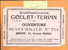 BUVARD: Goulet-Turpin Bondy, Succursale 714 - G