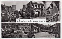 Bonjour De LUXEMBOURG, Gel.195?, 2 Sondermarken - Luxemburg - Stadt
