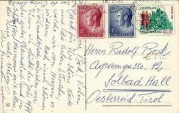 Weihnachtskarte Aus LUXEMBOURG - Gel.195?, 3 Fach Frankiert - Ansichtskarten