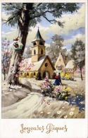 Osterkarte Aus LUXEMBOURG - Gel.1956, 3 Fach Frankiert - Ansichtskarten