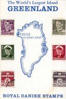 GREENLAND - 6 Fach Frankierung Auf Bildpostkarte, 1957 - Grönland