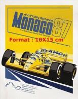 Reproduction D'une Photographie D'une Affiche Pour Le Grand Prix Automobile De Monaco De 1987 Ayrton Senna - Reproductions