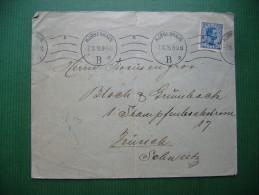 Denmark: COPENHAGEN KOBENHAVN KJOBENHAVN - Letter Sent To Zürich 3 - Fächer (postmark), 20 Ore - 1916 - 1913-47 (Christian X)