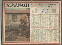 Calendrier Des Postes G-F  Des Pyrenées Orientales 66 De 1950 ( Jardinier En Herbe ) - - Big : 1941-60