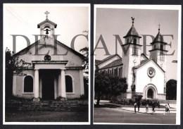 2 REAL PHOTOS PORTUGAL GUINÉ-BISSAU - IGREJAS - SÉ CATEDRAL DE BISSAU IGREJA DE BOLAMA - 1960'S (SÃO FOTOS) - Guinea-Bissau