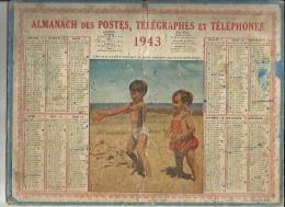 Calendrier Des Postes G-F  Des Pyrenées Orientales 66 De 1943 ( L´Art Et La Manière D´Attraper Un Ballon Au Jeune Ge ) - - Big : 1941-60