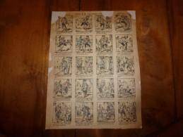 Vers 1900  Imagerie Pellerin        HISTOIRE DE M. COURTOUJOURS ET DE.....                   Imagerie D'Epinal  N° 114? - Vieux Papiers
