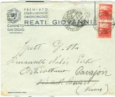 DEMOCRATICA £.3+3,TARIFFA LETTERA,1947,POSTE CANNETO SULL'OGLIO,MANTOVA,REATI ORTOFLORICOLO,CAVAION VERONESE,VERONA - 6. 1946-.. Repubblica