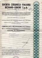 SOCIETÀ  CERAMICA ITALIANA RICHARD GINORI - Azioni & Titoli