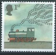 GB  2007 World Of Invention S/A: Steam Locomotive And Railway Tracks  1 St  SG 2716 SC 2445 MI 2497 YV 2854 - 1952-.... (Elizabeth II)