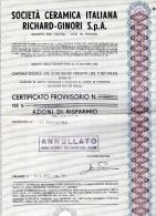 SOCIETÀ  CERAMICA ITALIANA POZZI  GINORI - Azioni & Titoli