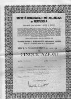 SOCIETÀ  MINERARIA E METALLURGICA PERTUSOLA - Azioni & Titoli