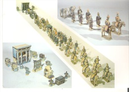Procession Of Honor Guards, Polychrome Pottery China - Ming Dynasty Shanghai Museum - Articles Of Virtu