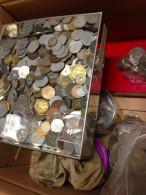 18 KG PIECES MONNAIES FRANCE ITALIE ITALIA DANS CARTON A TRIER !!! COINS COIN M�NZEN