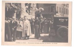 CP CUGES-LES-PINS (13 Bouches Du Rhône)  Procession De Saint Antoine De Padoue Animée Foule Hommes - Otros Municipios