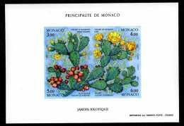 1992 MONACO BLOC NON DENTELE N°55a  LES FIGUES DE BARBARIE Xx - Blocs