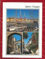 SAINT TROPEZ  - Dépt 83  -  Multivues - Cpsm - Saint-Tropez
