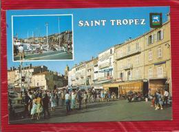 Souvenir De SAINT TROPEZ  - Dépt 83  -  Blason - CPSM - Saint-Tropez