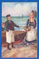 Trachten; Rügen; Mönchguter Trachten; Künstlerkarte - Trachten