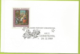 Autriche 1988 1772 CS Noël Icône De L´église Orthodoxe De Sainte Barbara Vienne Vœux Poste Autrichienne - Christmas