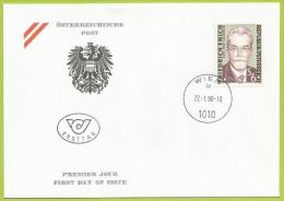 Autriche 1990 1810 FDC Friedrich Emich Chimiste - Chimica