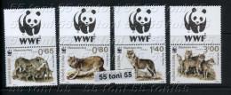 Bulgaria/ Bulgarie 2015, WWF - Eurasian Wolf - 4 V. + Vignette – MNH - W.W.F.