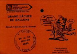 4eme SALON DE LA  CARTE POSTALE ANCIENNE ET MODERNE..1985..LYON..CPM - Bourses & Salons De Collections
