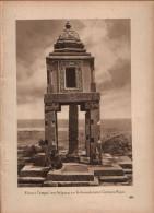 Kleiner Tempel Am Aufgang Der Kolossalstatue Romata Rojas Druck, Entnommen Aus Velhagen Und Klasings- Monatsheften/ 1924 - Zeitungen & Zeitschriften