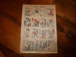 Vers 1900 Imagerie  Marcel Vagné De Jarville-Nancy         NOUVELLES DEVINETTES         Images Amusantes Planche. N° 437 - Vieux Papiers