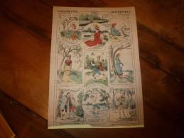 Vers 1900 Imagerie  Marcel Vagné De Jarville-Nancy   DEVINETTES,      DEVINETTES      Images Amusantes Planche. N° 405 - Vieux Papiers