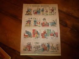 Vers 1900 Imagerie  Marcel Vagné De Jarville-Nancy   NOUVELLES  DEVINETTES      Images Amusantes Planche. N° 430 - Vieux Papiers