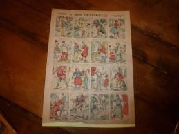 Vers 1900 Imagerie  Marcel Vagné De Jarville-Nancy   MES  DEVINETTES      Images Amusantes Planche. N° 435 - Vieux Papiers