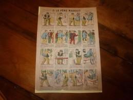 Vers 1900 Imagerie  Marcel Vagné De Jarville-Nancy       LE PERE MAHOUT         Images Amusantes Planche. N° 414 - Verzamelingen